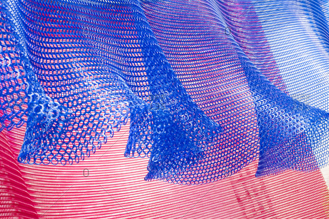 Mesh textiles in a breeze