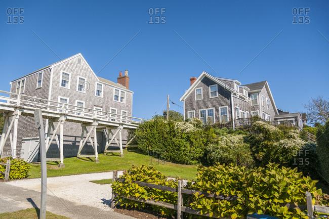 USA, Massachusetts - September 18, 2013: Nantucket Island, the village of Siansconset