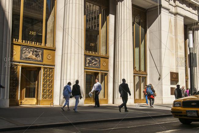 USA, New York, Manhattan - September 23, 2013: Thomson Reuters, 195 Broadway, Lower Manhattan
