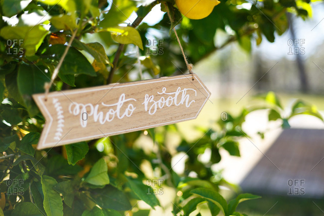 Sign for wedding photo booth