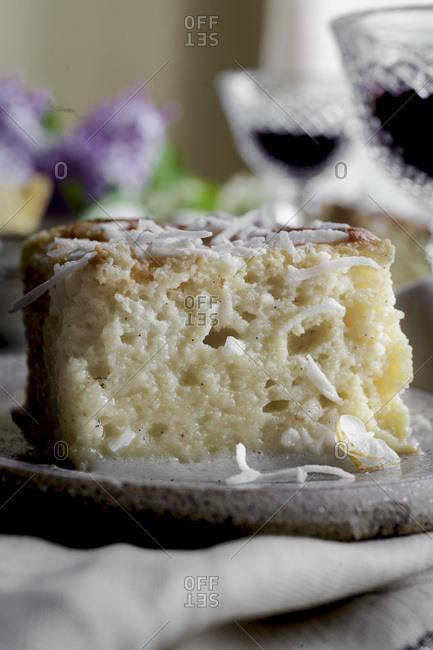 Gluten Free Tres Leches cake A sponge cake soaked in three milks