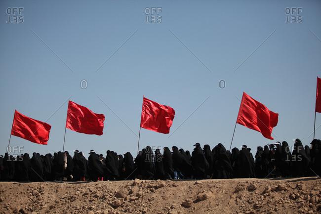 3/17/13 - People in Iran visiting war battle memorial