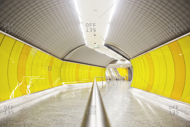 Budapest, Hungary - May 14, 2014: The Budapesti Metro is the oldest electrified underground railway system on the European Continent and the second oldest in the World In 2002 the Metro Line 1 was declared a World Heritage Site
