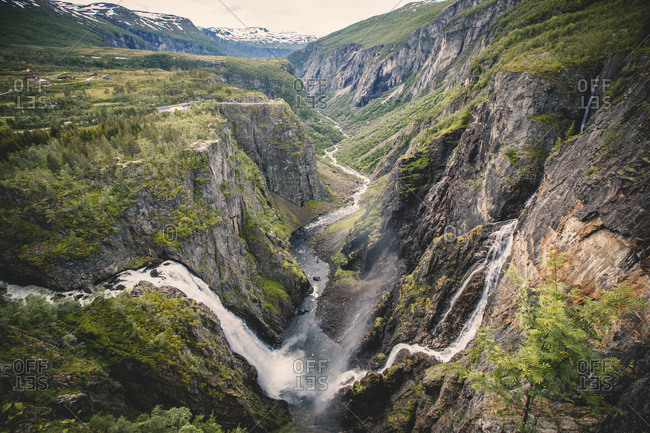 Voringfossen is a waterfall in Hordaland Norway