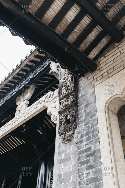 Ancient Chinese style home interior, in Guangzhou, China