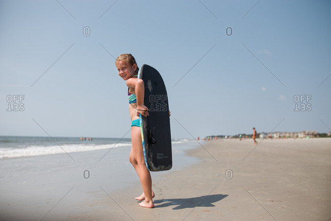 Girl with her boogie board