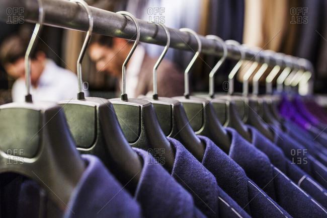 Jackets on coat hanger
