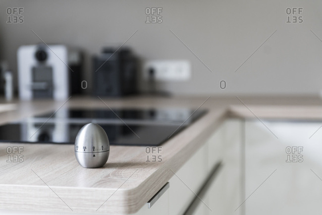 Egg timer in modern kitchen