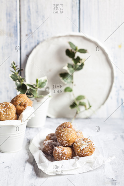 Donut holes- covered in vanilla sugar