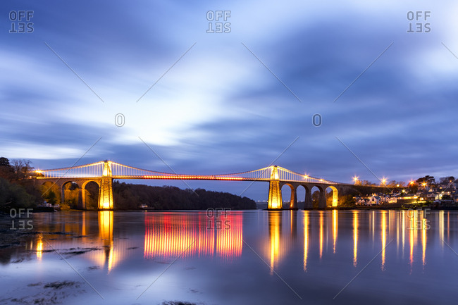 UK- Wales- Anglesey- Menai Suspension Bridge
