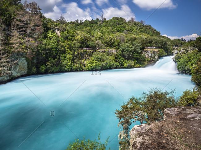 New Zealand- Taupo District- Waikato River- Huka Falls
