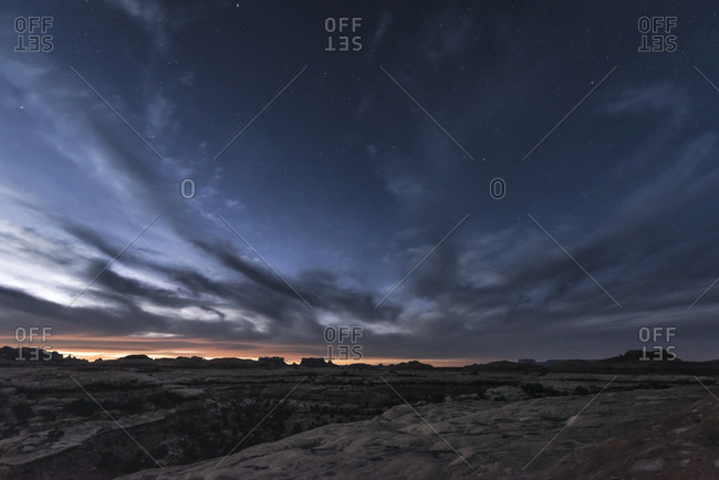 Scenic view of landscape against sky at Canyonlands national park