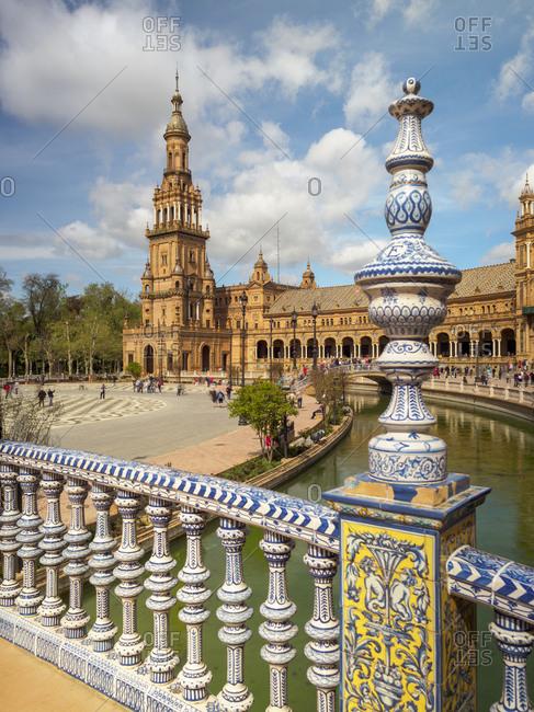 Spain, Sevilla -  June 10, 2014: Plaza de Espana