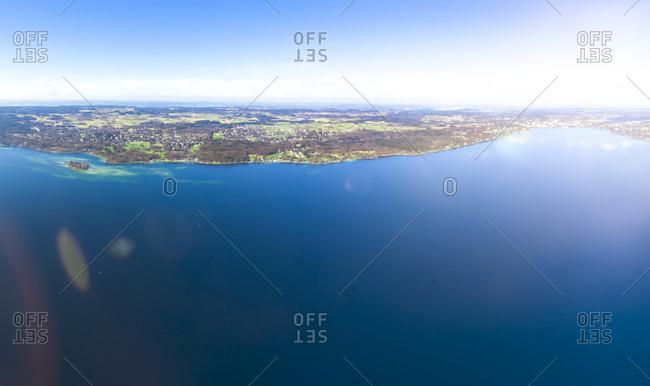 Germany- Bavaria- Lake Starnberg- drone