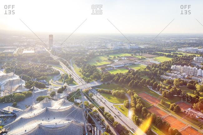 Germany- Bavaria- Munich- view over the Olympic Area