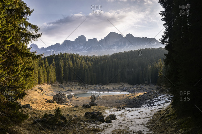 Italy- South Tyrol- Dolomites- Karersee