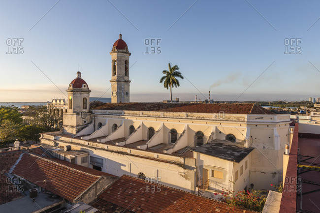 The Cathedral de la  Concepcion in Plaza Jos?� Mart??, Cienfuegos, Cuba