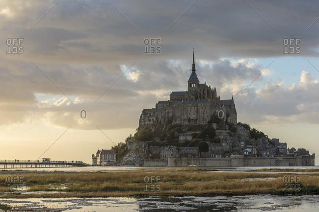 Sunset light Mont-Saint-Michel, Normandy, France