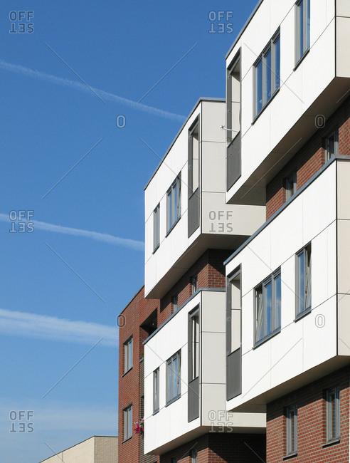 Exterior of contemporary apartment building