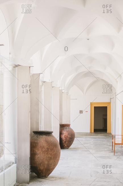 Vaulted corridor in Portuguese building