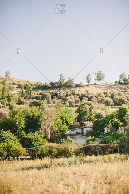 Home nestled in rural Portugal