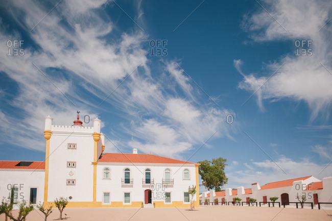 Plaza in a Portuguese town