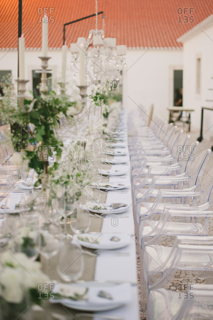 Long table for wedding, Portugal