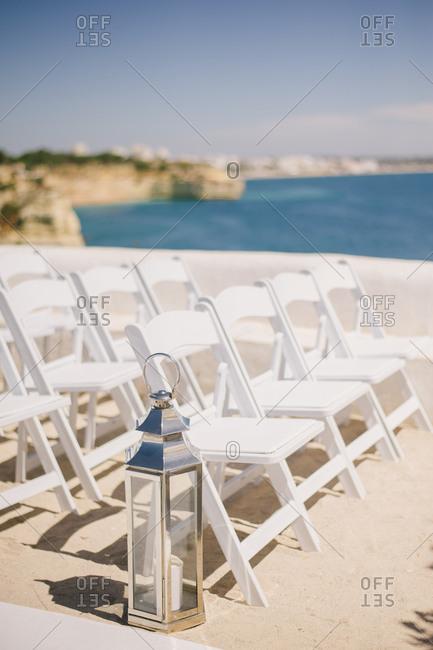 Wedding setup by Portuguese coast