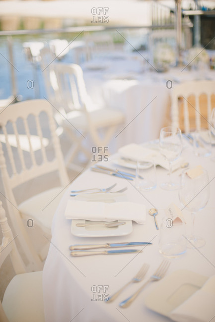 Wedding table by seaside in Portugal