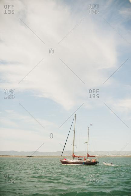 Sailboat off the Portuguese coast