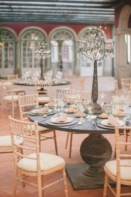 Hall set for wedding in Portugal