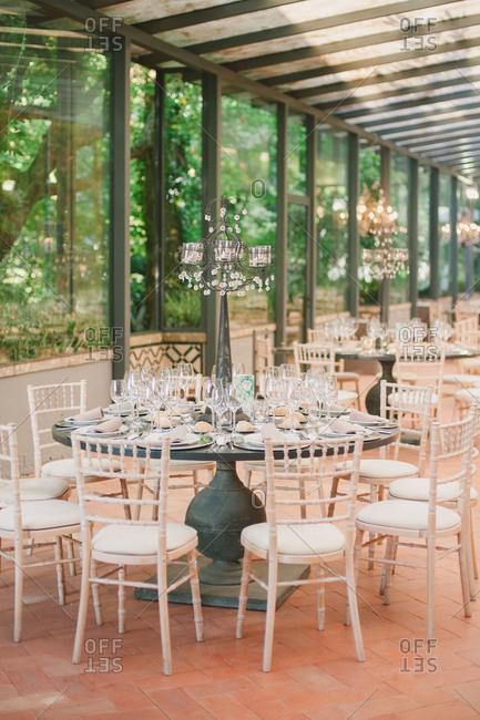 Reception hall for wedding in Portugal
