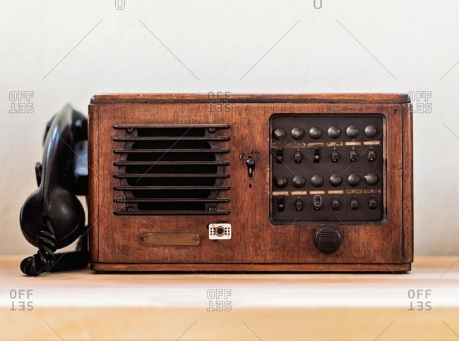 Vintage phone, studio shot