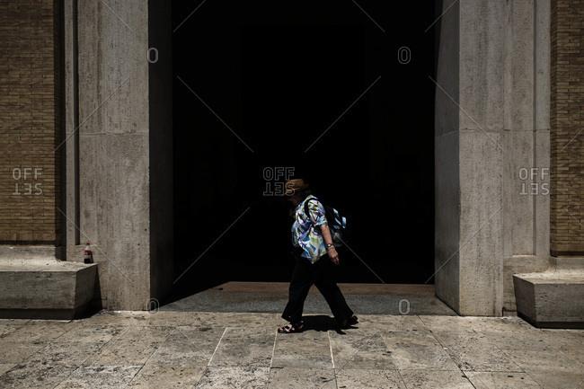Vatican City - June 4, 2017: Tourist walking in Saint Peter's Square