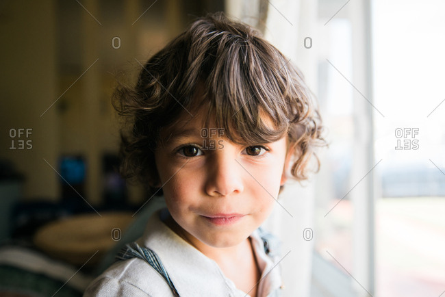 Portrait of a cute young boy in natural light