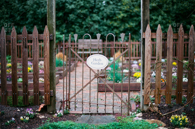 Gate leading to herb garden