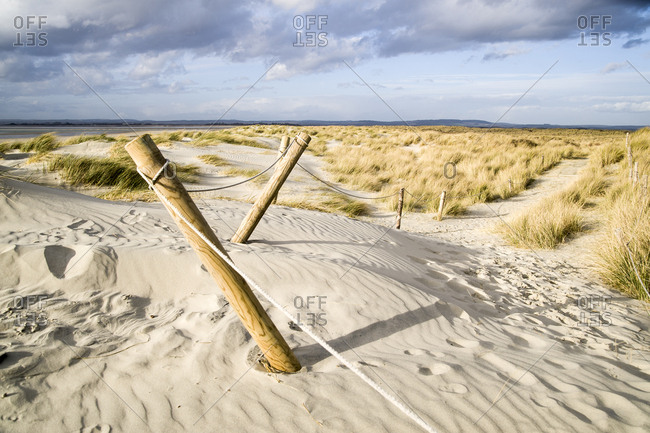 Posts marking a coastal path
