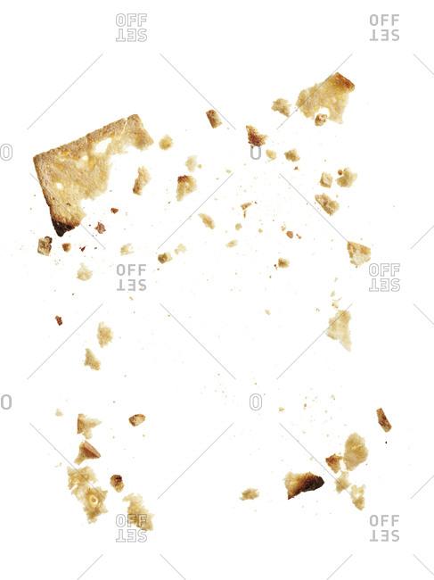 Toast crumbs