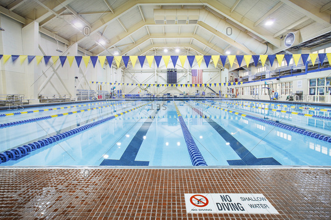 Indoor swimming pool for school sport programs and swim competitions.