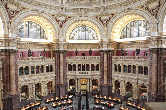 Washington, DC, USA - April 9, 2016: Library of Congress