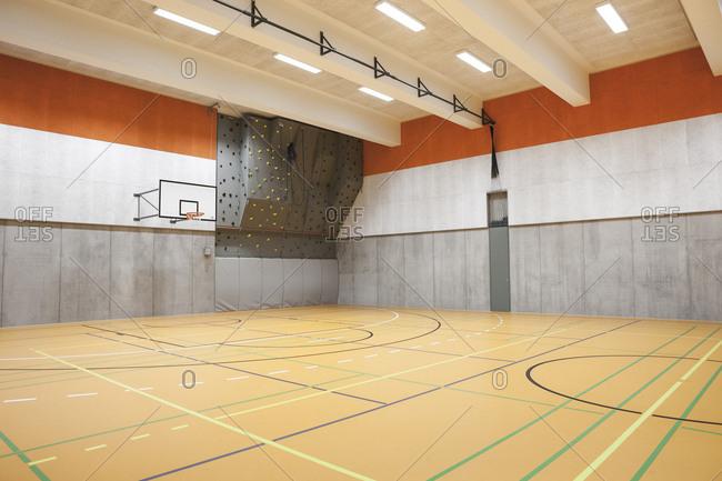 Indoor sports gym