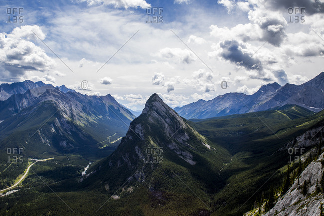 The mountains of Banff National Park in Alberta, Canada.
