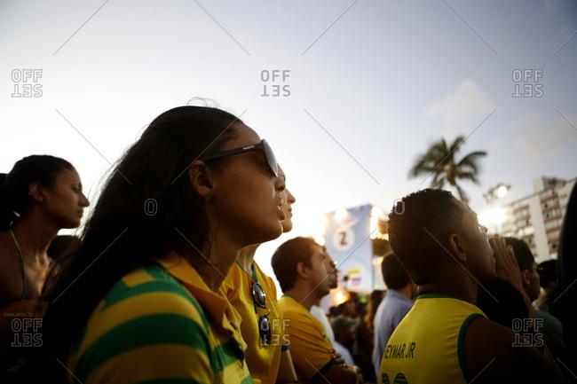 June 17, 2014 - Salvador, Brazil: Soccer fans watching World Cup