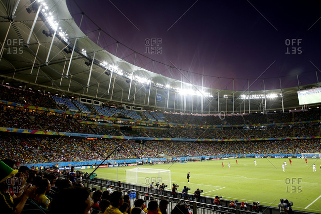 July 1, 2014 - Salvador, Brazil: World Cup teams playing in soccer stadium
