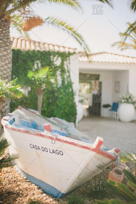 Boat in yard in Portugal