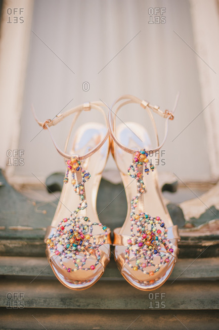 Beaded shoes for wedding