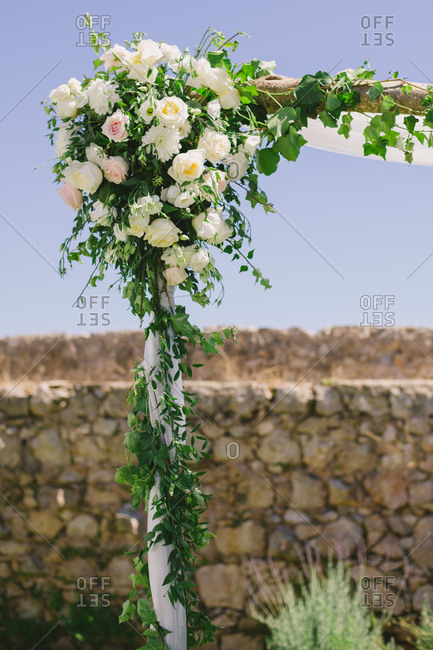 Corner of a wedding trellis