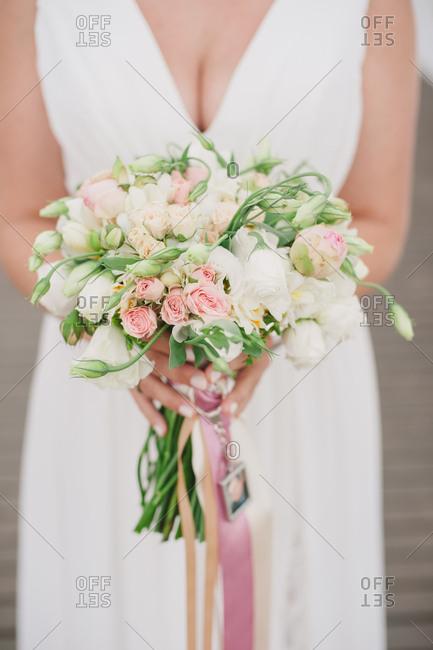 Bride with a tulip bouquet