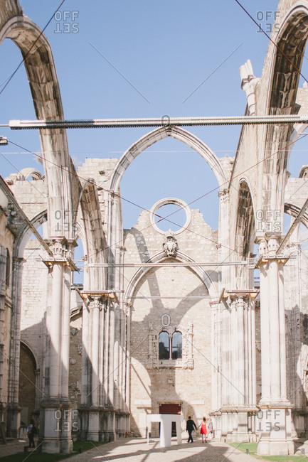Ruins of Carmo Convent in Lisbon, Portugal