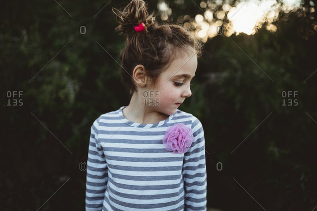 Girl with bun in her hair